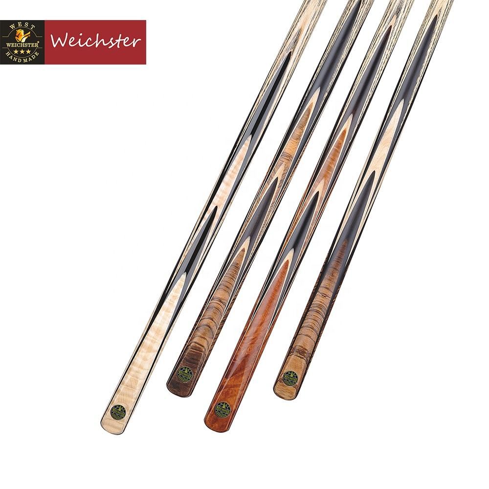 Weichster High Quality Handmade 16 splices African Ebony Custom Snooker Cue Stick