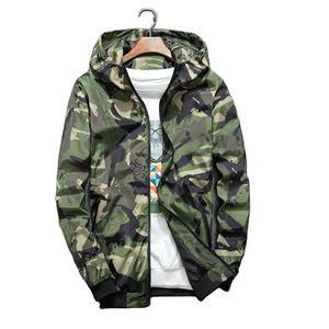 Cheap Windbreaker Jackets Men Casual Spring Hooded Camouflage Jacket Men Streetwear Hip hop Sportwear Camo Army Jacket Clothes