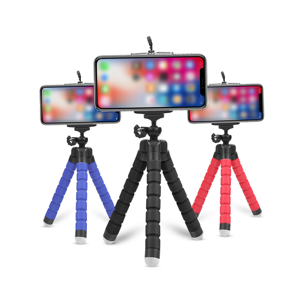 Mini Flexible Sponge Octopus Tripod Holderfor iPhone Samsung Xiaomi Huawei Smartphone Tripod for Gopro 8 7 5 Camera Holders