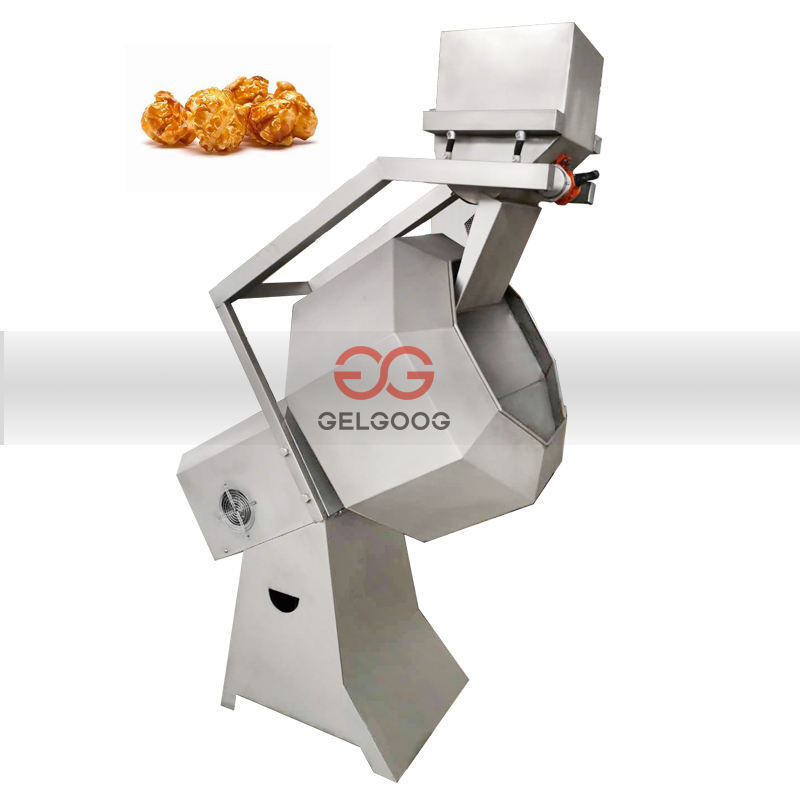 Automatic Corn Puff Snack Flavoring and Coating Mixer Potato Chips Seasoning Machine Mix for Puffed Corn