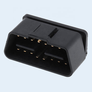 Gold Plated J1962 24V 90 Degree Right Angle OBDII OBD OBD2 Male Connector
