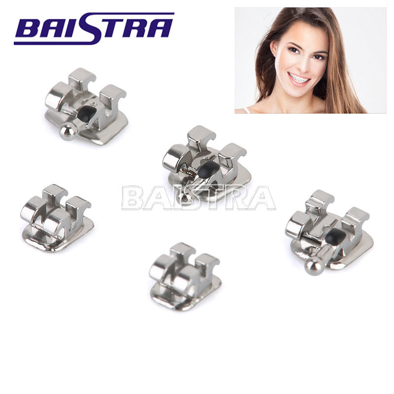 Orthodontic Materials Standard MBT 022 Metal Dental Brackets with Hooks 3