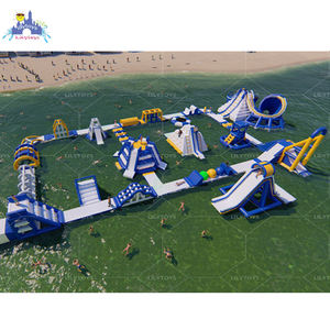 inflatable aqua park equipment,inflatable floating obstacle course water play single equipment with TUV certificate