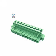 ST2EDGKM PCB Plug-in 5.0mm 5.08mm clamp PA66 pluggable  female terminal block KF2EDGKM