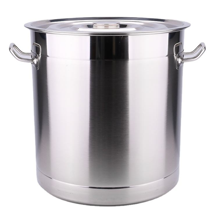 30 liter thickened stainless steel deep soup and stock big size cooking pot for hotel canteen
