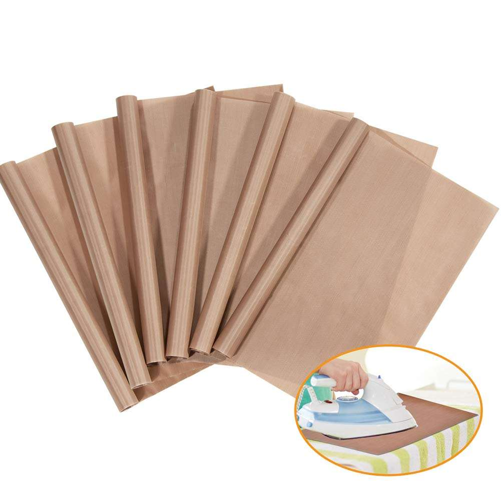 Reusable heat resistant PTFE sheet for heat press ironing 1000 uses