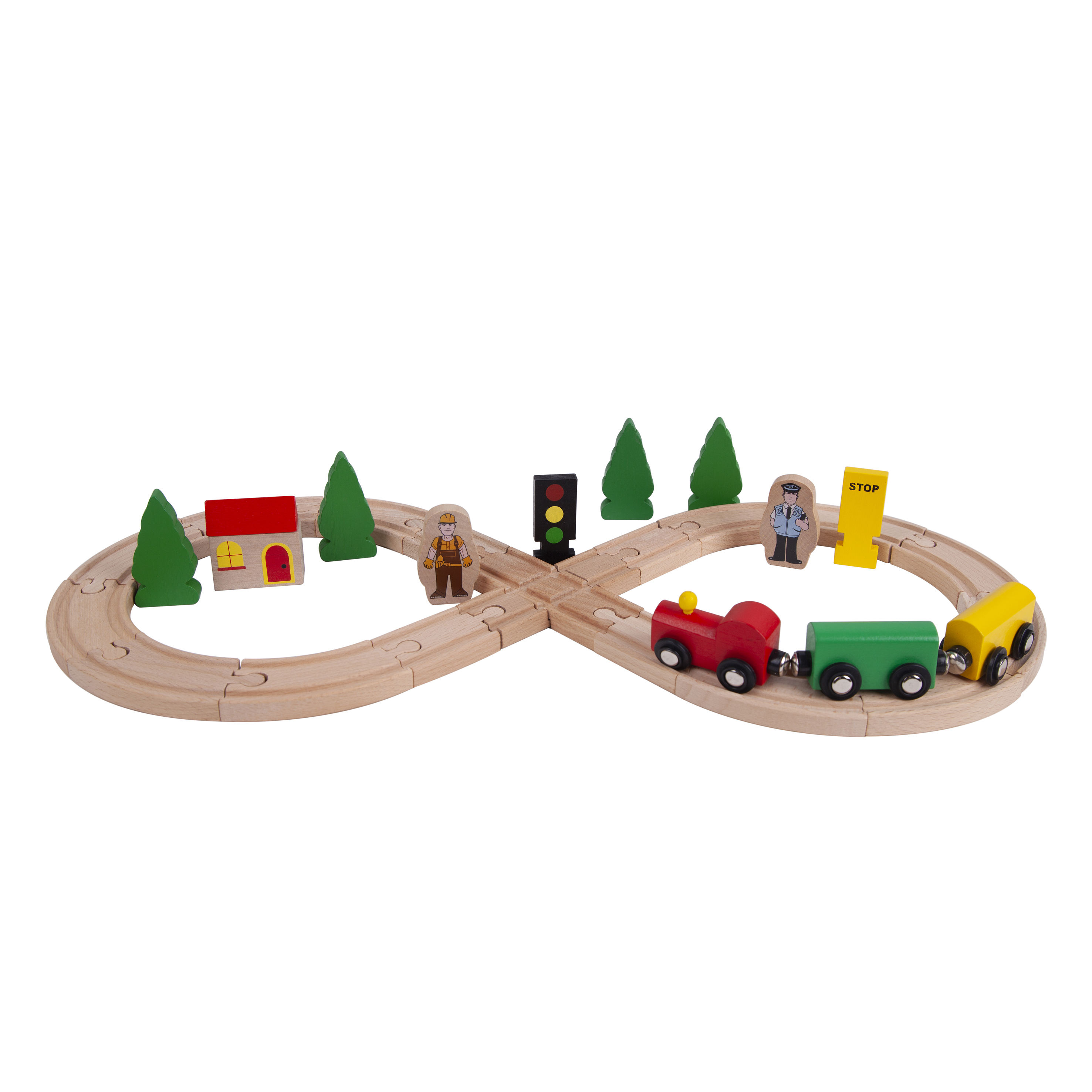 Wholesale Educational 30個Railway Wooden Toy Train SetsためKids