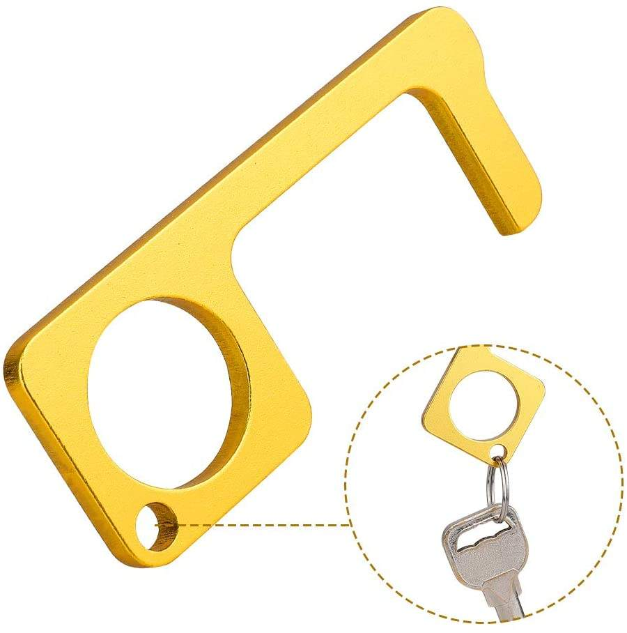 Contactless Safety Door Opener Safety Protection NO Touch Brass Keys Opener w7