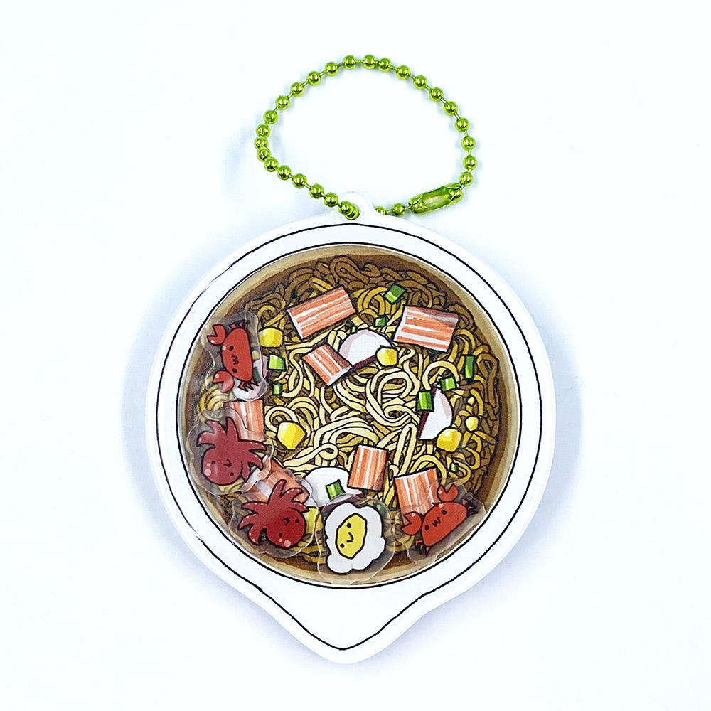 Customized promotional cartoon acrylic charm key chain with shaking charms