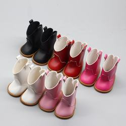Amazon Hot Sale 18-inch Doll White/pink/black High-top Leather Boots Doll Shoes