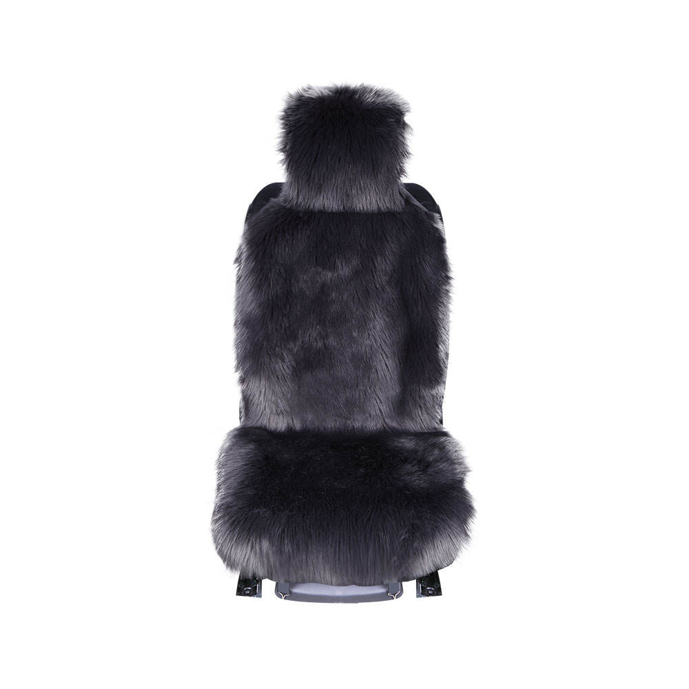 Rownfur winter labeskin sheepskin long fur front seat 1 piece car seat cover