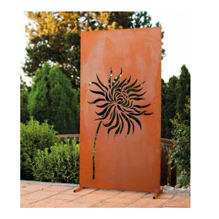 JIS standard laser cutting corten steel sculpture for garden with best price