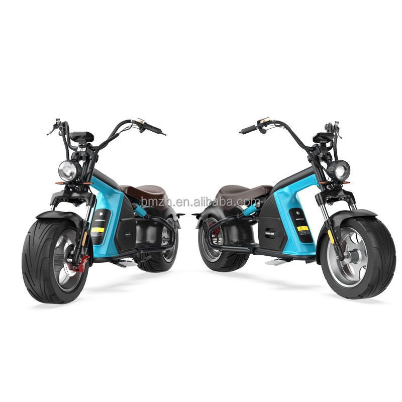 New Design Electric Stacker Fat Tire 12 inch Big Motor Power 4000W 60V off road citycoco dule wheel kick scooter motorcyle
