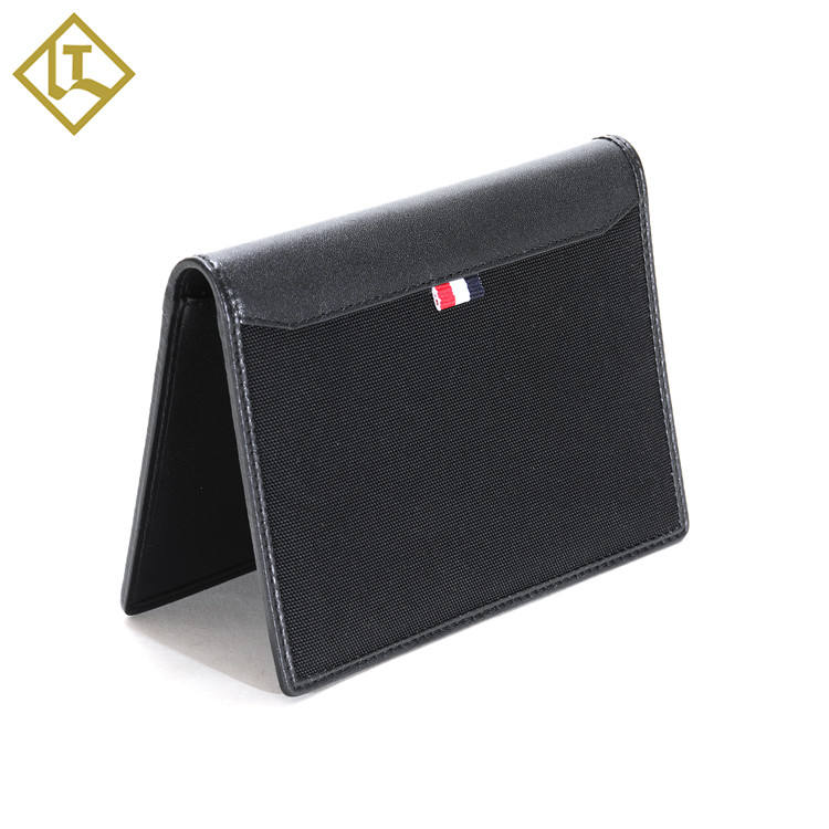 Custom fashion unique personalized branded rfid blocking genuine leather waterproof visa travel slim bifold passport holder
