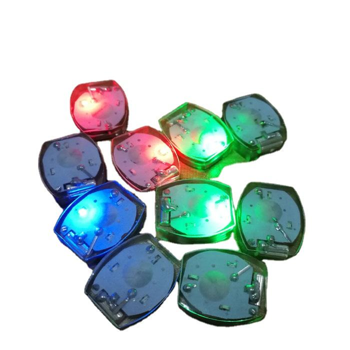 waterproof multicolor Impact Vibration Activated Mini LED Lights for Clothing and Shoes