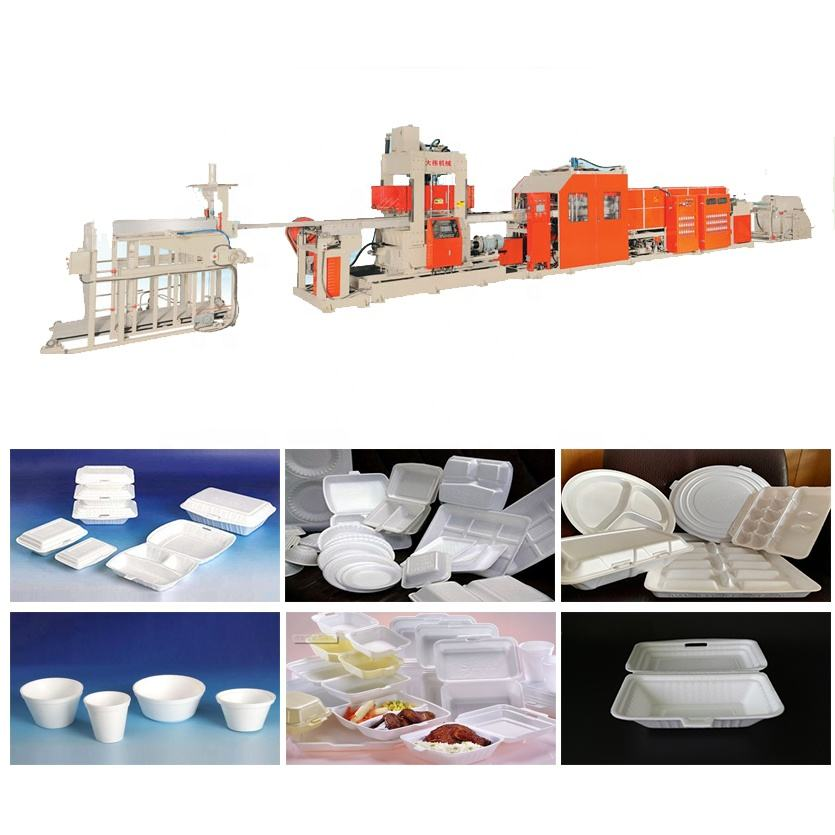 High speed automatic thermocol plate and dona making machine