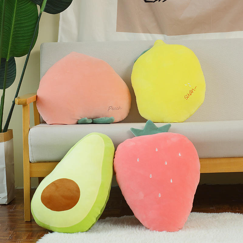 People Cute Cushion Animal Vegetables Custom Soft Long Carrot Stuffed Avocado Toys Plush Watermelon Stuff Toy Pillow