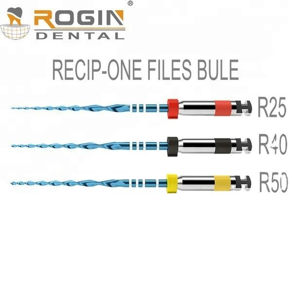 Dental Endo Files Recip-One Blue Reciprocating motion One File system with Heat Activation