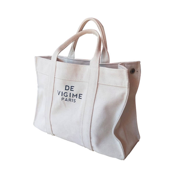 Wholesale eco friendly canvas tote bag shopping lunch bag with zipper