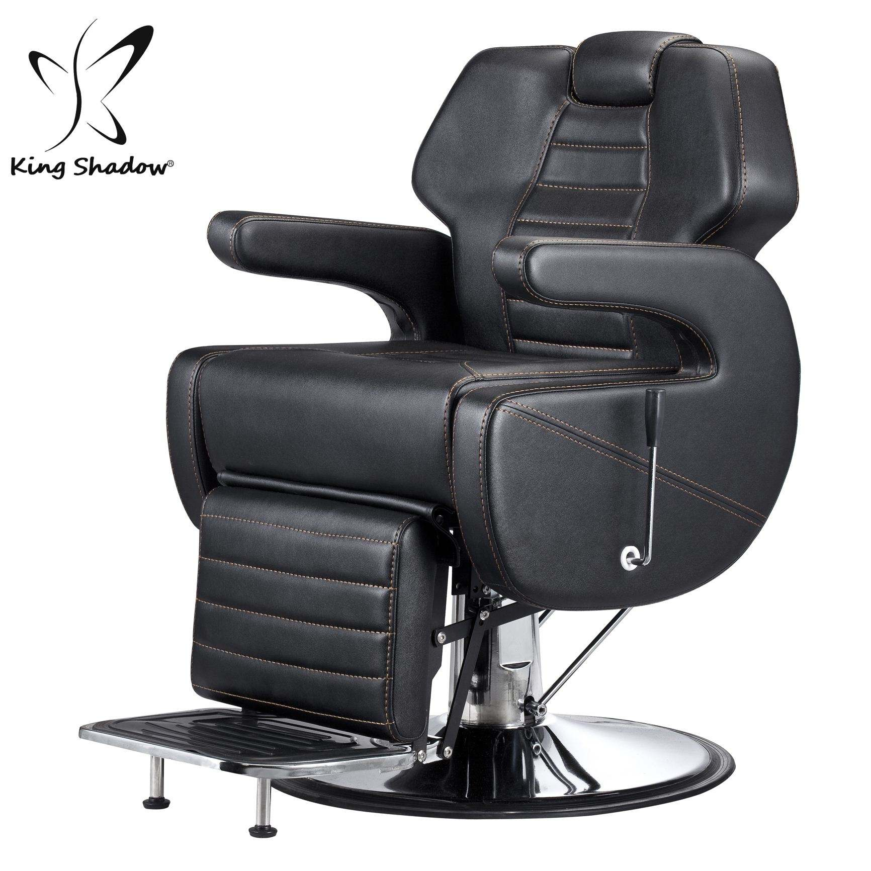 King shadow PU waterproof leather optional barber salon chair