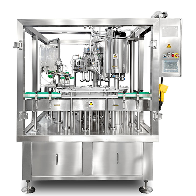 8 Heads Craft Beer Filling And Capping All In One Machine 1000BPH Filling And Capping Monoblock Machine