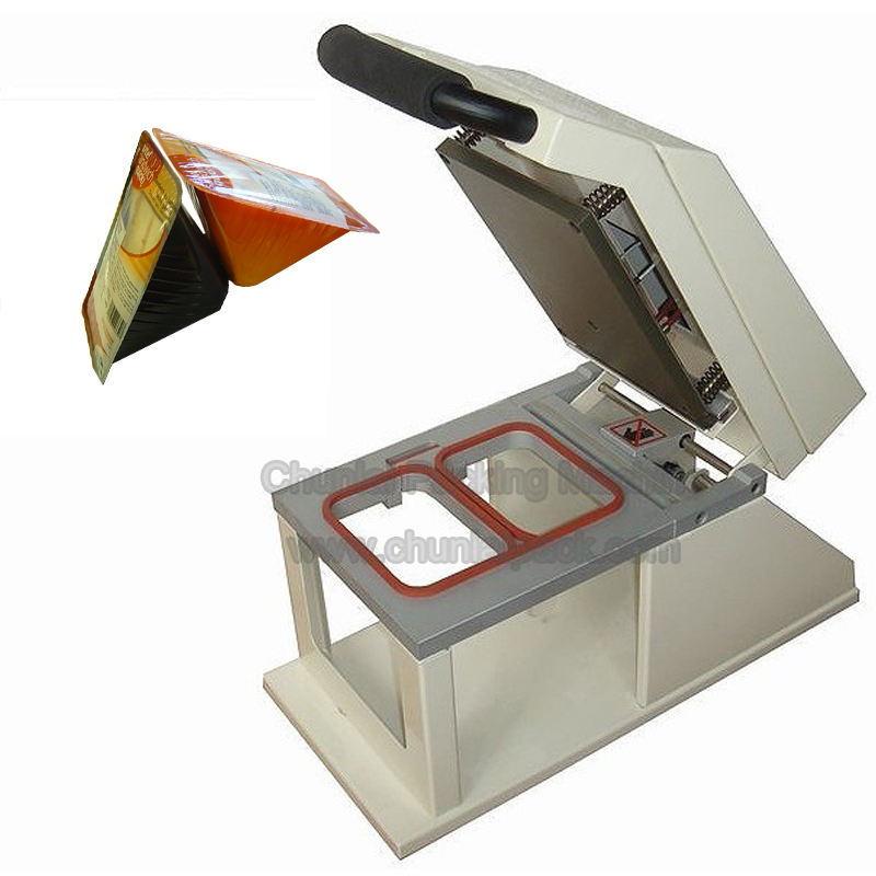 Factory direct sale Manual Sandwich Fast Food Tray heat Sealing Machine sealer