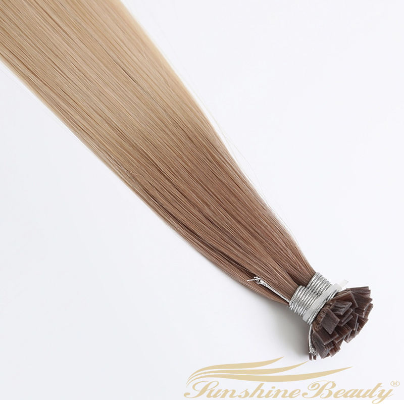 Double Drawn 100 Cuticle Remy Virgin Flat Tip Keratin Hair Extensionsเคล็ดลับ