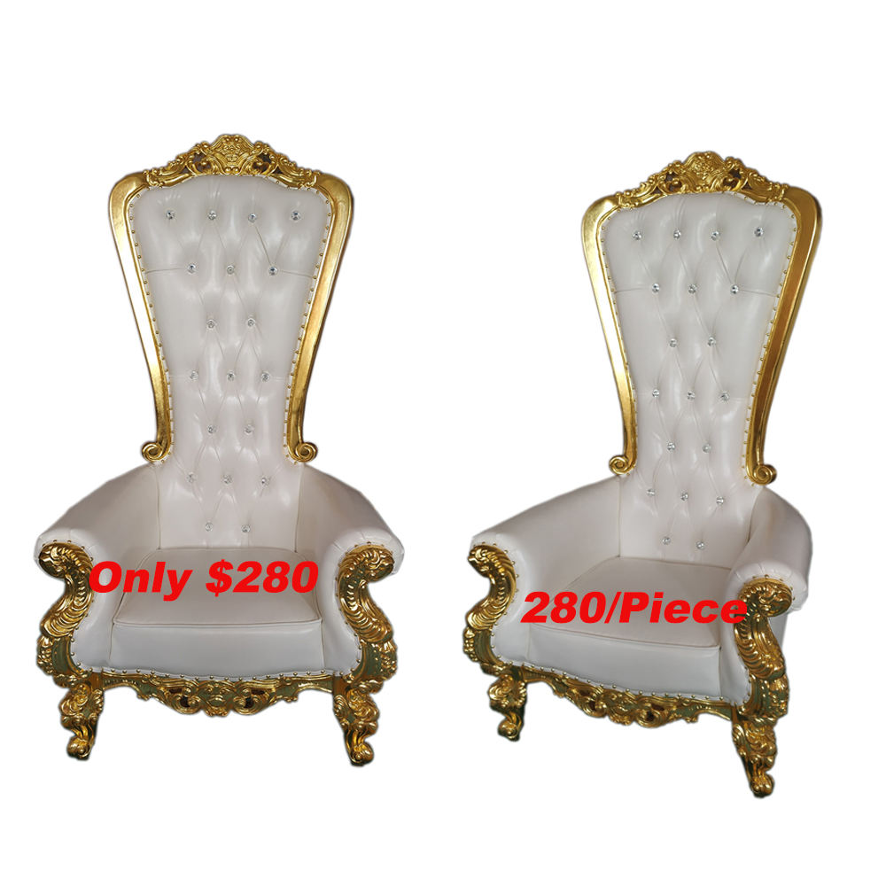 Cheap Royal Luxury Wedding High Back King Throne pedicure chair