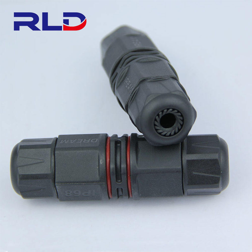 2 pin 3 pin led power waterproof over molded cable connector