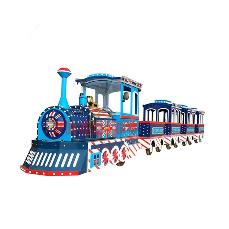 Cheap prices shopping mall indoor amusement children games electric trackless train rides for sale