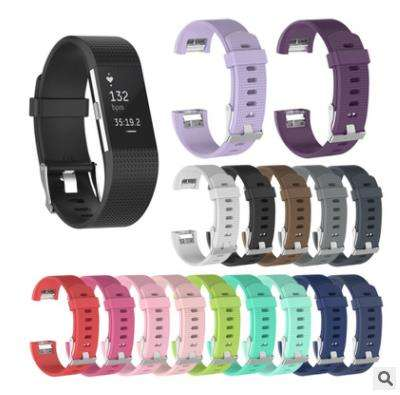 Soft Fashion Silicone Bracelet Replacement Watch Band Wrist Strap For Fitbit Charge 2 Smart Watchband For Fit bit charge2 Band