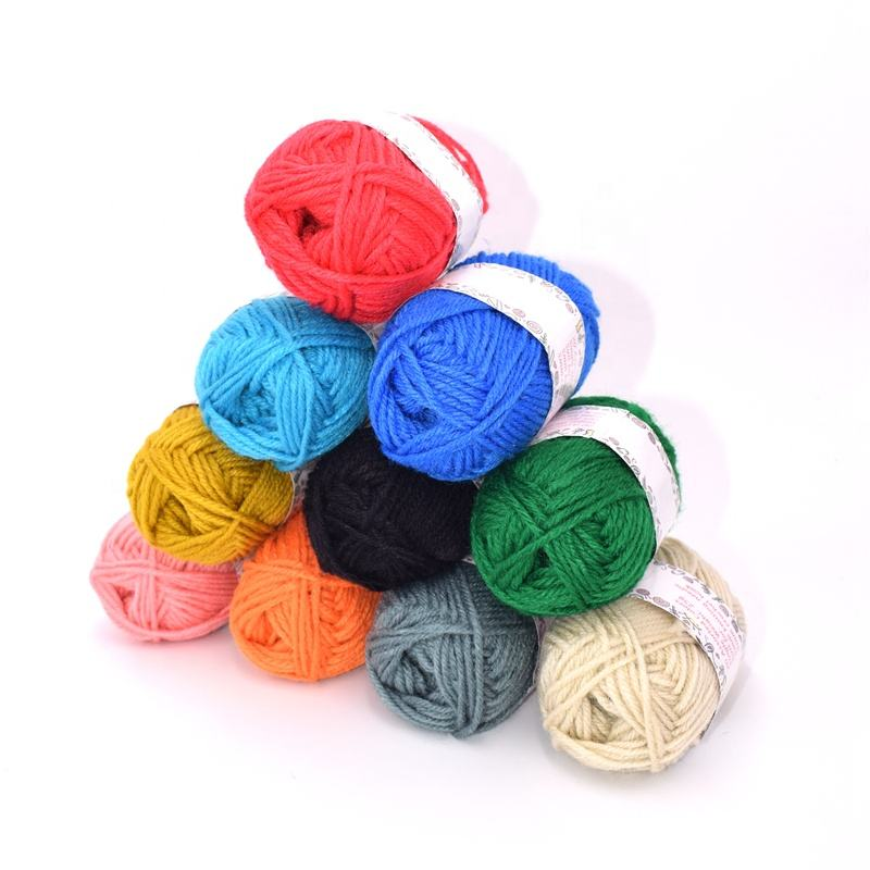 Hot sale OEM logo assorted colors skeins 100% acrylic yarn for crochet