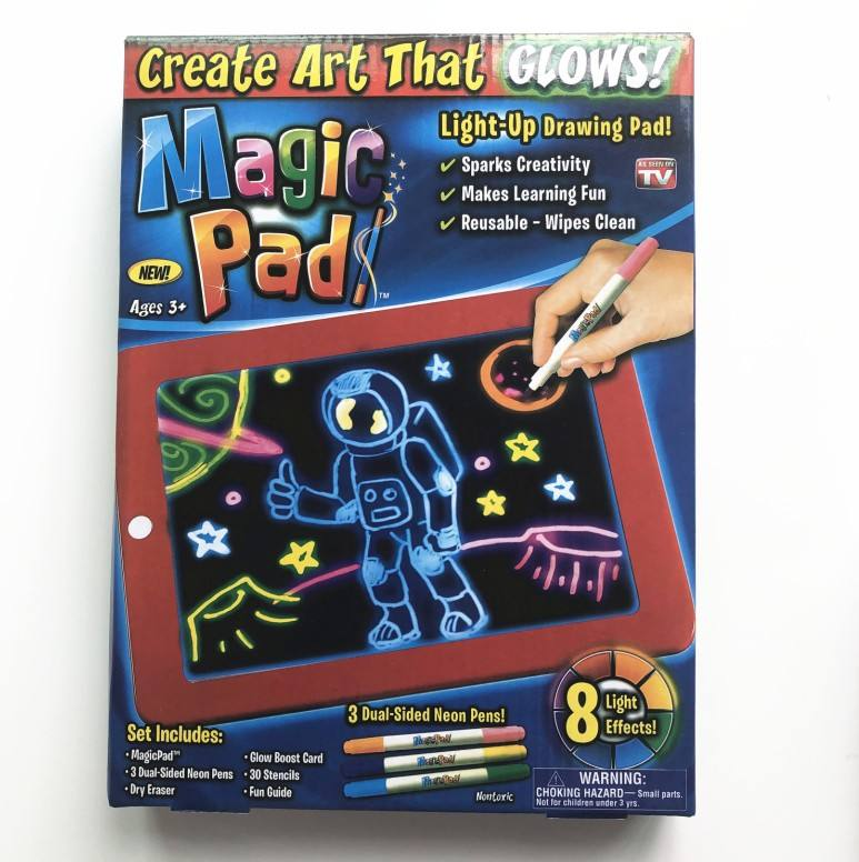 lazada ebay amazon hot product 3D Magic Erasable Drawing Pad battery powered led drawing light pad for kids