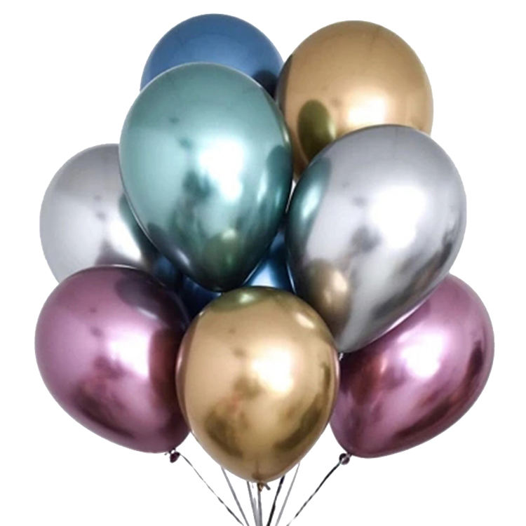 Walmart Metallic Ballon Jongen Of Meisje Happy Birthday 5 10 12 Inch Glanzend Metaal Latex Chrome Ballonnen