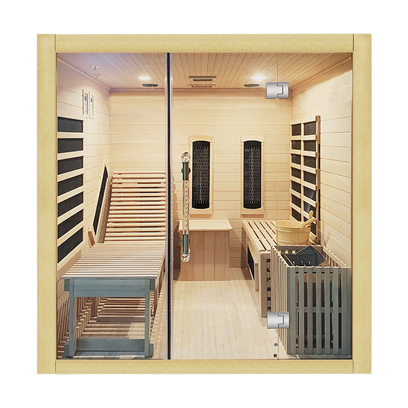 Traditional Style Indoor Wooden Infrared dry steam sauna room