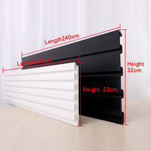 wholesale plastic groove PVC MDF  slat wall board panels for hanging hooks
