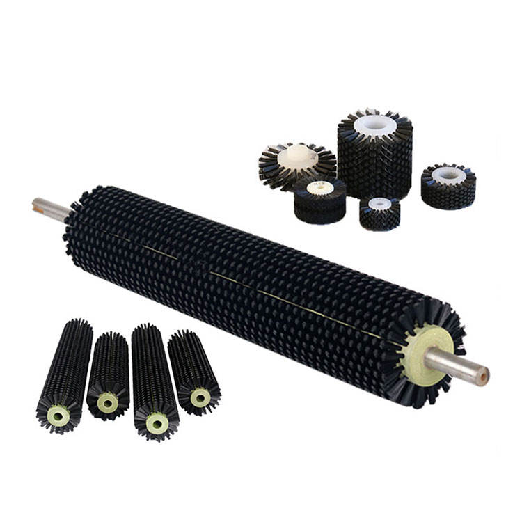 Cylindrical steel wire chimney brush industrial nylon round roller brush for cleaning