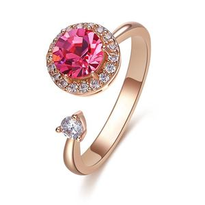 OUXI jóia Do Casamento rosa pink diamond ring for women C40626