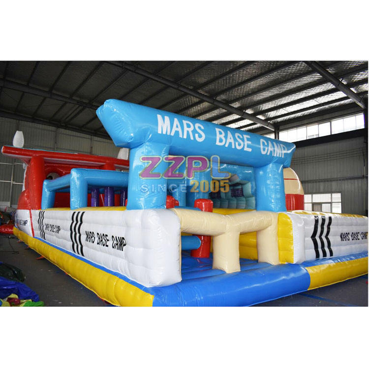 giant inflatable playgrounds, customized NASA inflatable obstacle course for adults