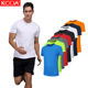 KCOA In Stock Hot Sales Sports Reflective Stripe Blank Running Quick Dry Men T Shirt
