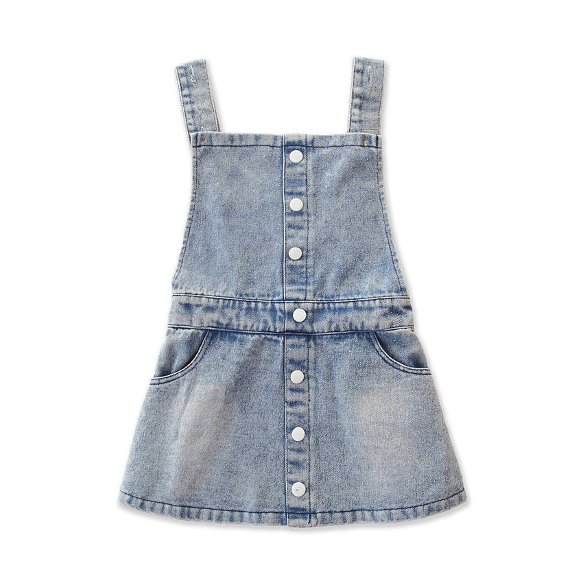 toddler girls button denim romper girl ruffle boy baby pants cotton trousers