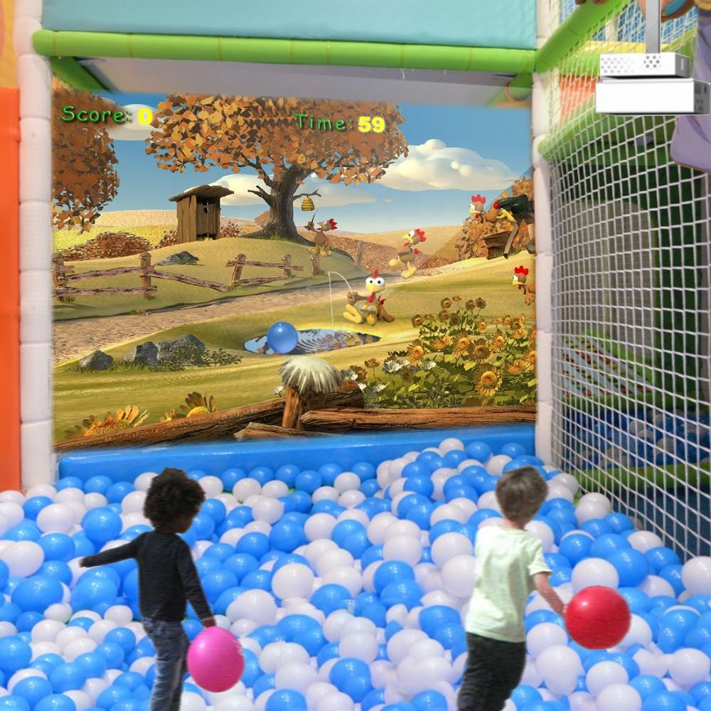 Interactive Wall Projection Game Park ChariotTech Basic Version Games with Crazy Ball for Amusement Equipment