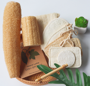 eco friendly natural body shower kitchen cellulose sponge brush facial bath gants loofah loofa lufa luffa pads