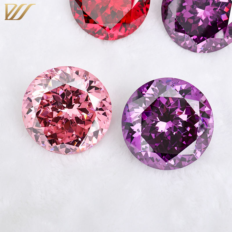 Customized flower cut cubic zirconia from 50mm to 120mm huge size loose gemstone CZ for special use different colors available