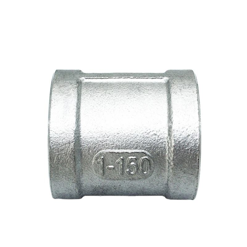 Stainless Steel Tools Threaded Straight Hardware Coupling Bearings Pipe Fittings 316L DN10 3''