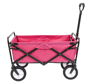 Eco-friendy High Quality Heavy Duty Agricultural Garden Beach Trolley Four Wheels Foldable Beach Wagon