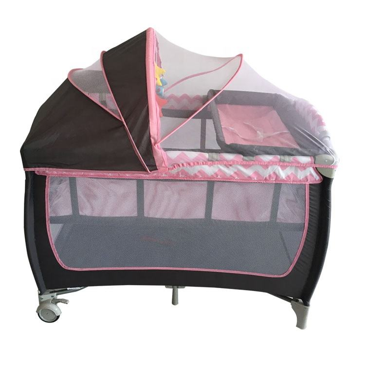 2020 comfortable baby bed beautiful crib light weight bassinet foldable kid`s cot, baby travel playpen