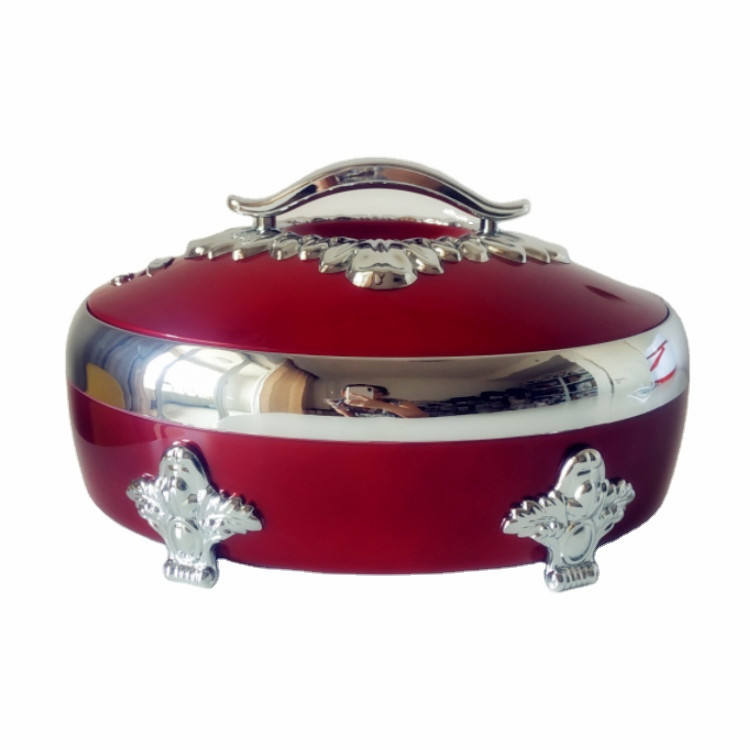 Colorful Dinnerware Stainless Steel Luxury Insulated Casserole Food Serving Hot Pot Food Warmer Set