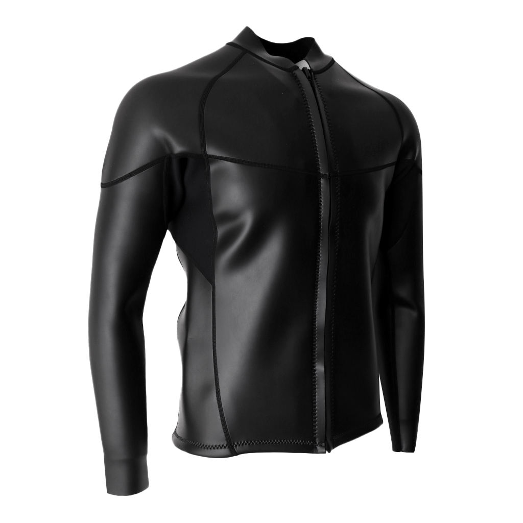 Neoprene Adult's Men's 2mm Neoprene Wetsuit Jacket Top Long Sleeve Diving Suits Super Stretch
