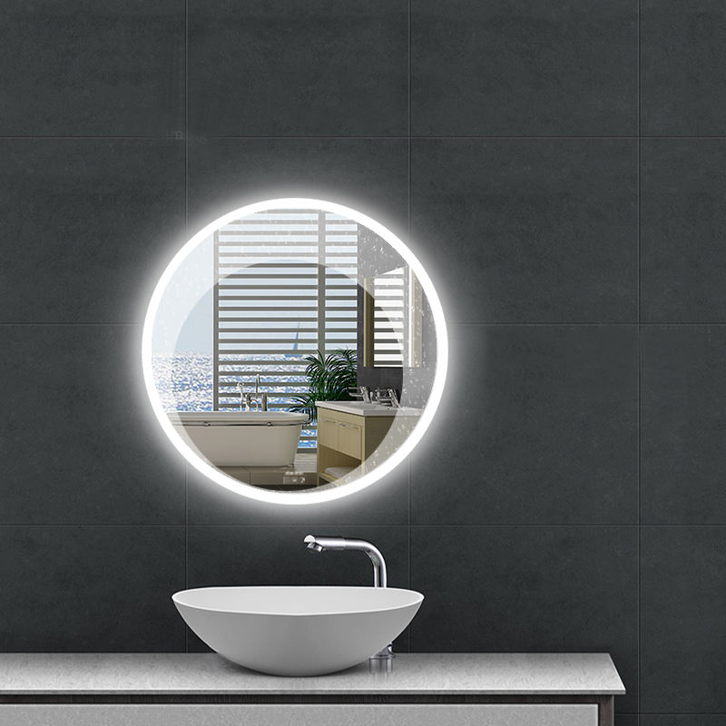 Fashion design Bathroom Wall mounted Vanity mirror smart mirror with bluetooth speaker time display